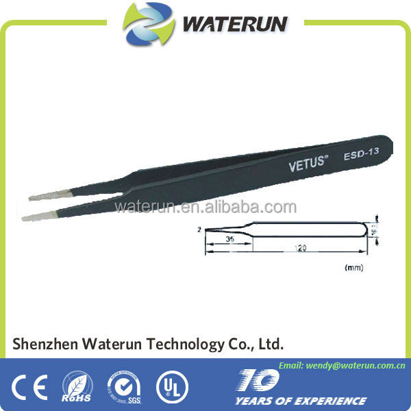 Vetus Antistatic Eyelash Extension Tweezers Supplier