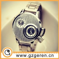 Ali express dual time zone wholesale watch cheap,quartz stainless steel watch, watch sport
