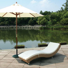 Outdoor Popular Used No Arm S Shaped Chaise Lounge