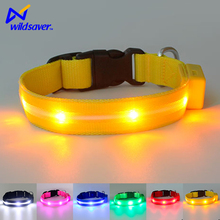 Fashion waterproof led usb rechargeable flashing dog collars