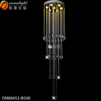 Led pendant lamp pendant lamp parts controlled chandeliers home decorative lighting k9 crystal led luster OM88453-500W