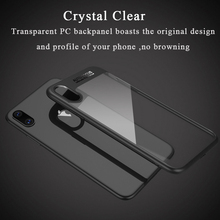 For iPhone X Case Ultra Thin Clear Armor Phone Cases Soft TPU Hard PC Transparent Back Cover For Apple iPhoneX