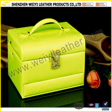 Multi-layer Green Leather Jewelry Case 2016 New Fashion