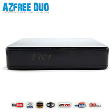 AZfree duo Full HD DVB S/S2 Twin Tuner MPEG 2/4 H.264 IKS + SKS Chile Brazil South America IPTV