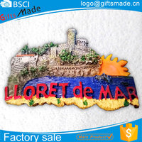 wholesale custom personalized epoxy fruit poly resin 3d tourist souvenir cities fridge magnet