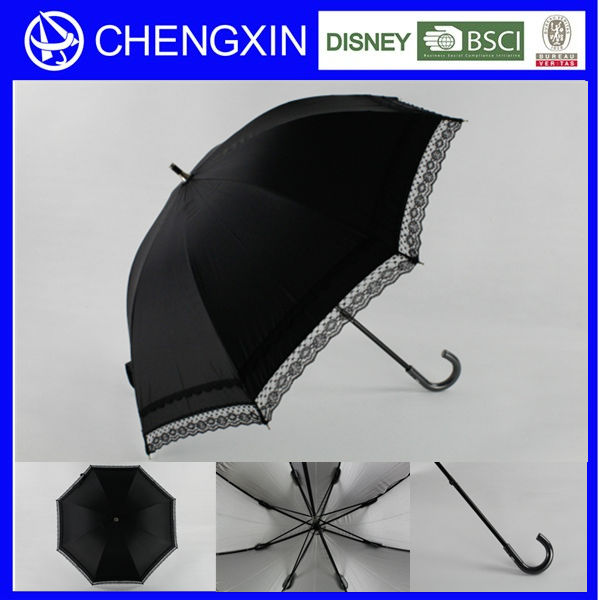 wholesale leather handle lace parasol umbrella