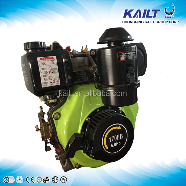 air cooled OHV Single cylinder 4 stroke crankshaft portable small TB170 FB 5hp diesel engine for boat