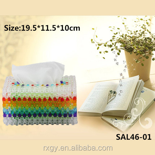 wholesale houses tissue box DIY Beaded, napkin dispenser/holder for home decoration,office,hotel