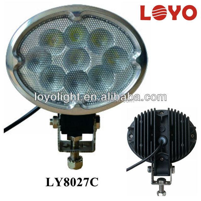 oval style 27w led work light,auto led work light with magnet base,car work light led 12v