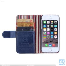 Wholesale Credit Card Slot Holder Folio Wallet Leather Case for iphone 5S