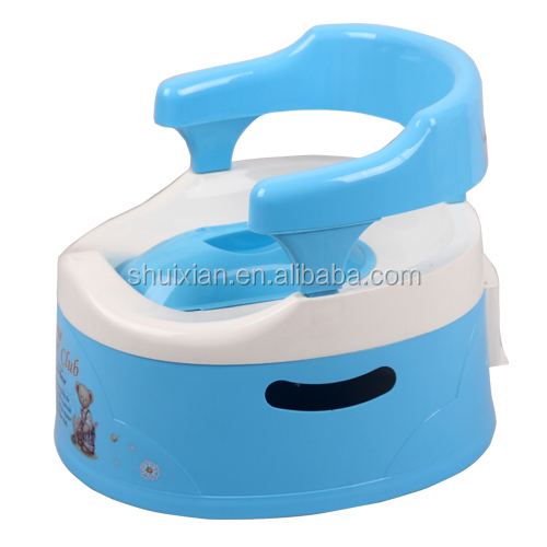 Wal-mart factory safety baby toilet training seat cheap preschool plastic babay potty chair BN7204