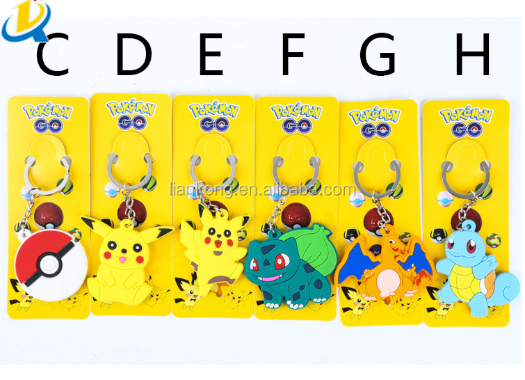 new design pokemon keychain pvc keychain