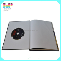 Hardcover dvd book with logo UV printing