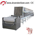China supplier conveyor belt microwave puffed pork skin machine