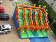 giant five lanes inflatable slip and slide commercial inflatable water slides