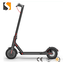 Mica electric scooter adult / student mini portable folding double wheel leisure scooter black.