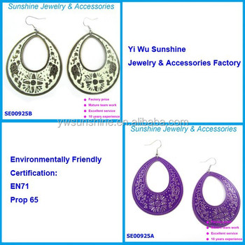 Wholesale fashion imitation custom unique earrings wire jewelry with the most popular