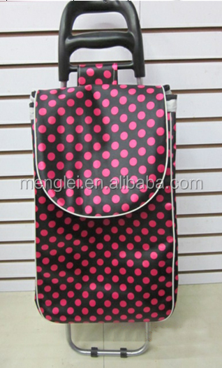 2016 New Design High Quality Trolley Bag shopping plastic bag wholesale rolling tote bag wheels