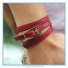 MECY LIFE 2015 high quality friendship of the leather bracelets for girls and boys couple bracelets