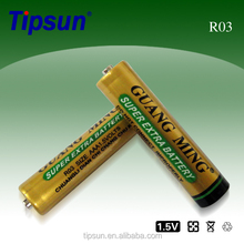 1.5V Heavy Duty R03 AAA Zinc Carbon Battery / Dry Cell