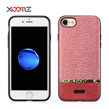 XOOMZ Splicing Shining PU Leather Back Cover Case for iPhone 7 7 plus
