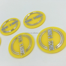 Custom Colored Plastic Drink Token Embossed Engraved with Hot Stamping Process