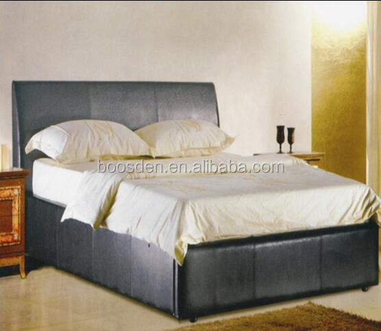 handsome bedroom furniture cheap leather queen size bed frame BSD-450160