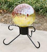 Handblown glass garden globe