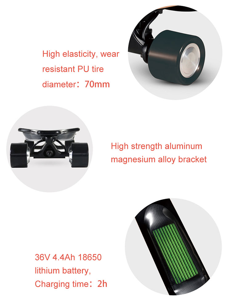 4 wheels electric skateboard factory price boosted electric skateboard