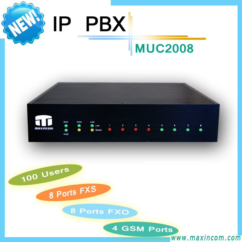 ip pbx product/4 sim cards gsm gateway pbx/chip voip