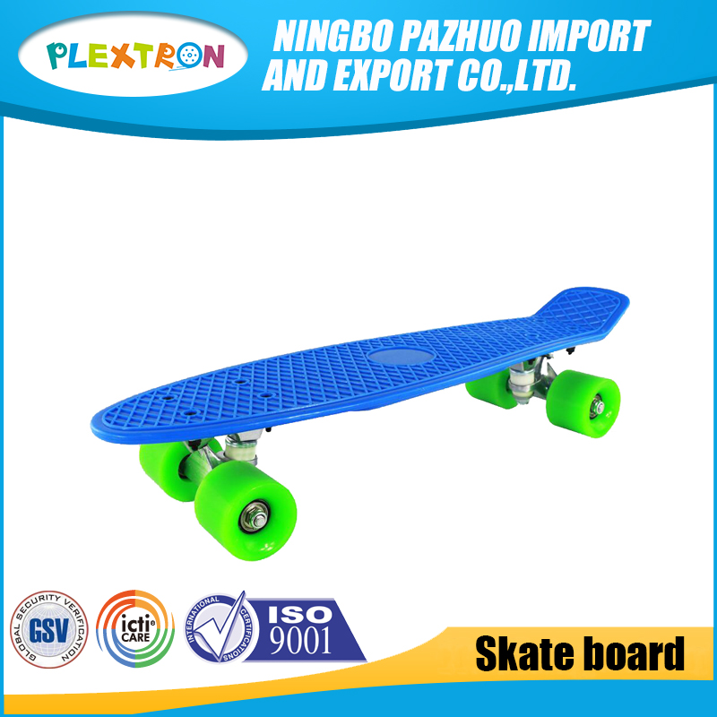 China High Performance Plastic Fish Skate Board 22 Inch Roller blank skate deck