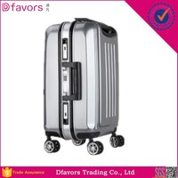 Factory price fashion metal frame suitcase luggage trolley cases cheap abs wheeled luggage for wholesales