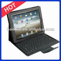 Bluetooth Keyboard with Leather Case for The New IPad