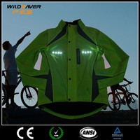 fluorescent green LED coaches jackets cycling