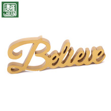wholesale wooden sign Golden home decoration