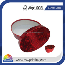 Professional High Quality rigid oval shaped box