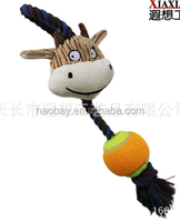 Cute design cartoon animal sex pet toy for dog, funny sound plush dog toy