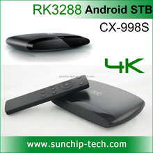 RK3288 Quad Core Android 4.4 4K Smart TV Box/Set top Box/Mini PC 2G+8G/16G with Bluetooth 4.0/WIFI 2.4GHz/5.0GHz XBMC CX-998S