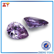Lavender Zirconia Beads for Sale/Hot Selling Pear Cut Zirconia Beads