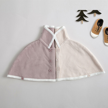 2019 Newborn Baby Solid Coat Infant Girl Double Button Baby Thick Cloak