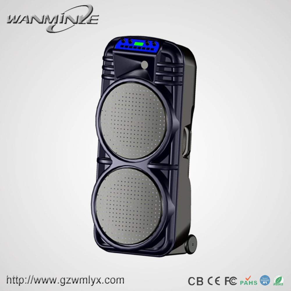 Hot sale Daul 12inch big power subwoofer sound system stage using professional hifi active speaker with light