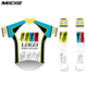 Custom Micko Bicycle Jersey Mens Full Zipper Short Sleeve Cycling Clothes MTB Road Bike Wear Arm Sleeve