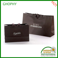 craft paper shopping bag with logo printed for cloth