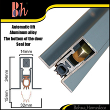BH Wholesale Automatical Drop Down Door Bottom Seals U type Edge Sealing Bar Hidden Groove Aluminum Weatherstripping M011
