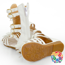 Cheap Price White Color Kids Girls High Heel Sandals China Wholesale Kids Shoes Children Girls New Sandals