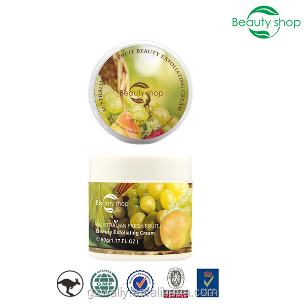 Best Australian fresh fruit beauty face exfoliating cream