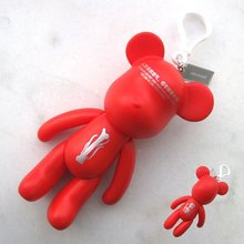 Best Selling Plastic Bear Key Chain PVC Gift 5 Inch Action Figure For Promotional Gift
