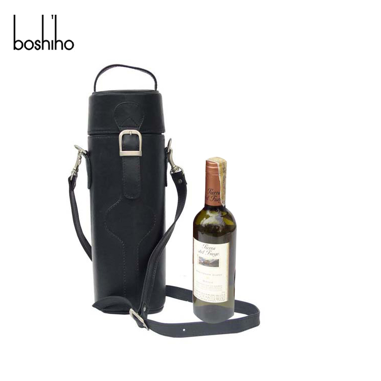 single wine bag leather wine pouch carrier