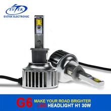 Automobiles 30W 3200LM H1 Motorcycle Led Headlight ,Led Headlight Conversion Kit for Mazda 6 Led Headlight