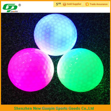 Cheap two pieces glow in the dark ball with several colors to flash